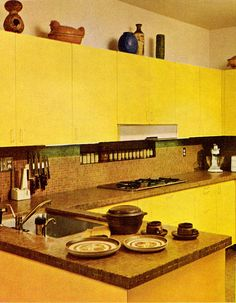 A Very Danish Modern Kitchen, Practical Encyclopedia of Good Decorating and Home Improvement. 1970