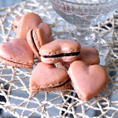 Heartshaped Chocolate Macarons ~ Whisk & Knife