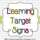 A free set of learning target signs to use in your classroom that coordinate with my chevron classroom decor items. 2 headers + 6 target signs are ...