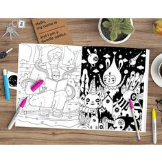 I'm glad to be part of the new Doodlers Anonymous Epic Coloring Book bring your inner child out and get your copy at http://ift.tt/1KtaDyW by muxxi