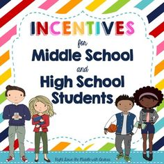 Rewards and Incentives for Middle School and High School Students- The perfect classroom management system to promote positive behavior in class so the focus can remain on learning. Right Down the Middle with Andrea Middle School Rewards, Middle School Management, Middle School Counseling, Middle School Reading, School Social Work, Middle School Classroom, Middle School Science, High School Students, Classroom Management