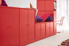 Build your own furniture with Montana. #montana #furniture #danish #design #interior #inspiration #storage #red #rouge #indretning #inredning