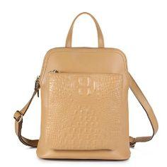 Womens Trendy Real Leather Shopper School Retro Backpack Rucksack Shoulder Bag