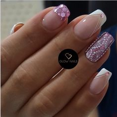 Fancy Nails, Pedicure, Acrylic Nails, Nail Designs, Glow, Nail Polish, Nail Art, Beauty, Korean Nails