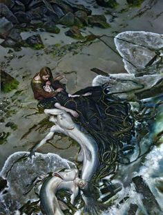 http://www.mermaidmania.de/museum/gallery/artwork/The_Golden_Rose_by_Donato_Giancola?full=1
