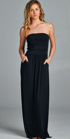 Strapless Pocket Maxi Dress – ROUTE 32