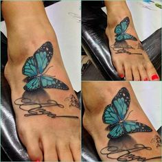 Love butterfly tattoos!