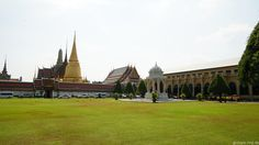Am Eingang zum Königspalast in Bangkok