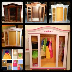 Dress-up Closet. Another fun transformation project! Maybe make princess aprons instead of full dresses