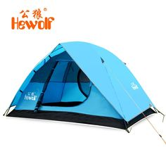 81.40$  Buy now - http://aliya5.worldwells.pw/go.php?t=32766468416 - Hewolf 2 person double layer waterproof ultralight camping tent