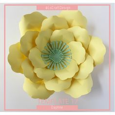 Paper Flower Template, DIY Paper Flower, Giant Paper Flower Templates, PDF Paper Flower, Paper flower Kit, Base and Instruction Including by LsCraftDesign on Etsy