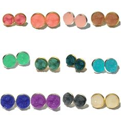 druzy studs, drusy earrings, pink studs, pink earrings, peach earrings, trends 2016, summer jewelry, summer earrings, summer studs, summer, jewelry, mint studs, mint quartz, druzy agate, quartz earrings, geode, pink, blue, tiffany blue, ice blue, denim blue, peach, watermelon, pin, teal, sea foam studs, teal studs, stud earrings, silver earrings, gold earrings  www.designsbykatieleigh.com