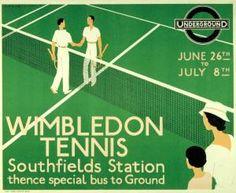 Vintage London Underground Posters @ Southfields station for Wimbledon Tennis tournament