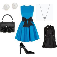 A fashion look from October 2014 featuring Madam Rage dresses, Ted Baker coats and Gucci pumps. Browse and shop related looks.