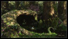 ' The Reading Place  by *ArthurBlue  Digital Art / 3-Dimensional Art / Scenes / Exteriors©2012 *ArthurBlue '