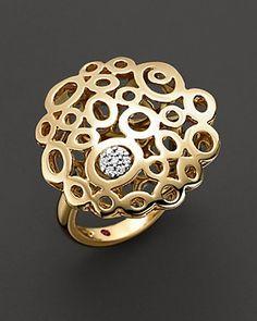 "Roberto Coin 18 Kt. Yellow Gold ""Mauresque"" Diamond Ring"