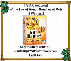 REVIEW & GIVEAWAY $$ Honey Bunches of Oats Cereal – 5 Winners!