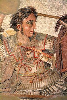 Battaglia di Alessandro contro Dario   da Pompei, Casa del fauno   Napoli, museo archeologico. Part. di Alessandro