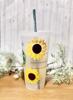 New to Etsy Shop! Tumblers, decals, shirts & more! Starbucks Cup, Starbucks Tumbler, Happy Stickers, Sun Flowers, Yeti Cup, Reusable Cup, Handmade Items, Handmade Gifts, Tumblers