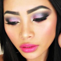 Dramatic Valentine's Day Makeup by Angelie A. Click the pick to see the makeup video tutorial.  #beauty #valentinesdaymakeup