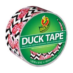 Printed Duck® brand duct tape - Flower Chevron http://duckbrand.com/products/duck-tape/prints/standard-rolls/flower-chevron-188-in-x-10-yd?utm_campaign=color-duck-tape-general&utm_medium=social&utm_source=pinterest.com&utm_content=printed-duct-tape