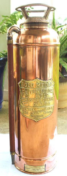 Hey, I found this really awesome Etsy listing at https://www.etsy.com/listing/240307306/vintage-copper-fire-extinguisher-copper