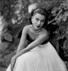 photo vintage site - Clifford Coffin - Linda Christian wearing a sable-banded ball gown 1949.jpg