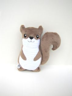 Plush Squirrel Light Brown Toy Baby Gift by ALittleBitofJoy, $15.00