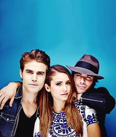 Ian Somerhalder, Nina Dobrev and Paul Wesley - Entertainment Weekly Comic Con Portrait 2014