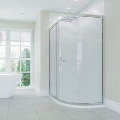 Identiti2 Single Door Offset Quadrant Shower Enclosure