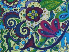 Modern Cross Stitch Kit In Full Bloom no.5 by Eden by FredSpools