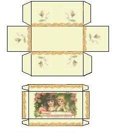 Discover thousands of images about All about dollhouses and miniatures: Printables om dozen te maken voor het poppenhuis Paper Crafts Origami, Cardboard Crafts, Barbie Miniatures, Dollhouse Miniatures, Printable Box, Printables, Etiquette Vintage, Pretty Box, Pretty Girls