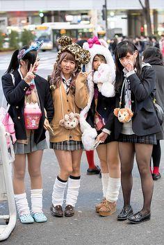Shibuya Girls in Animal Hats | Flickr - Photo Sharing!