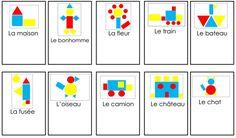 Voorbeeldkaarten logiblokken