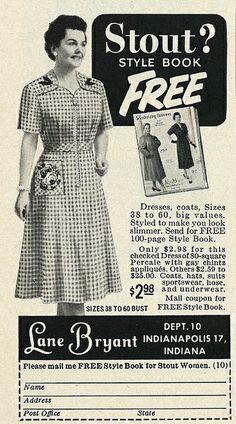 1954 Fashion Ad, Lane Bryant Catalog by classic_film, via Flickr