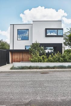 Japanese aesthetics in a newly built house in Denmark. Functionalism was of high priority. Future House, My House, Vejle, Facade House, Pantone, Denmark, Garage Doors, Exterior, Architecture