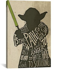 Star Wars Yoda Gallery-Wrapped Canvas | zulily