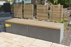 Bank Fur Den Garten Modern Holz Edelstahl Intervallo Block