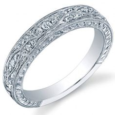 0.40 carats Round Cut Natural Diamond Wedding Band Ring 14k White Yellow or Rose Gold. $858.00, via Etsy.