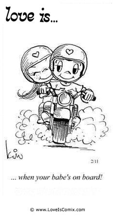 Love is.when your babe's on board. Love Is Cartoon, Love Is Comic, Couple Cartoon, Cute Couple Drawings, Cute Drawings, Couple Art, Love Couple, Love Memes, Love Quotes