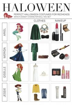 #Halloween is a wonderful time for redheads because your hair is always a main part of your outfit. Here is a breakdown of our favorite #DisneyCharacter costumes...