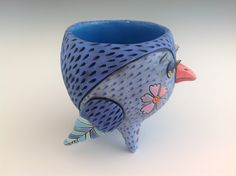 Blue Bird Cup by natalyasots on Etsy