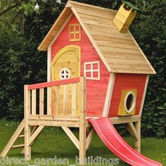 Wooden Play House on legs