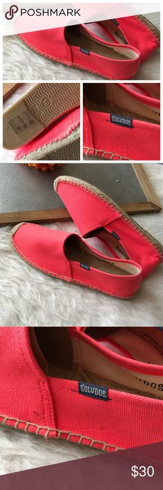 NEW Soludos womens slip on shoes neon pink orange Brand new! Soludos Shoes Flats & Loafers