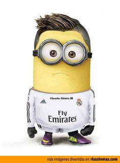 Cristiano Ronaldo como un Minion.  me gusta como juega