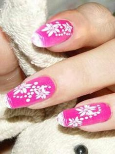 white on hot pink