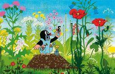 Krteček (Czech cartoon for kids), illustrator Zdeněk Miller