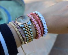 DIY triple ball chain bracelet