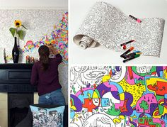 now you can encourage kids to draw on the wall