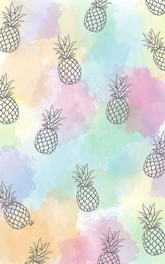 Pineapple Vacation Wallpaper